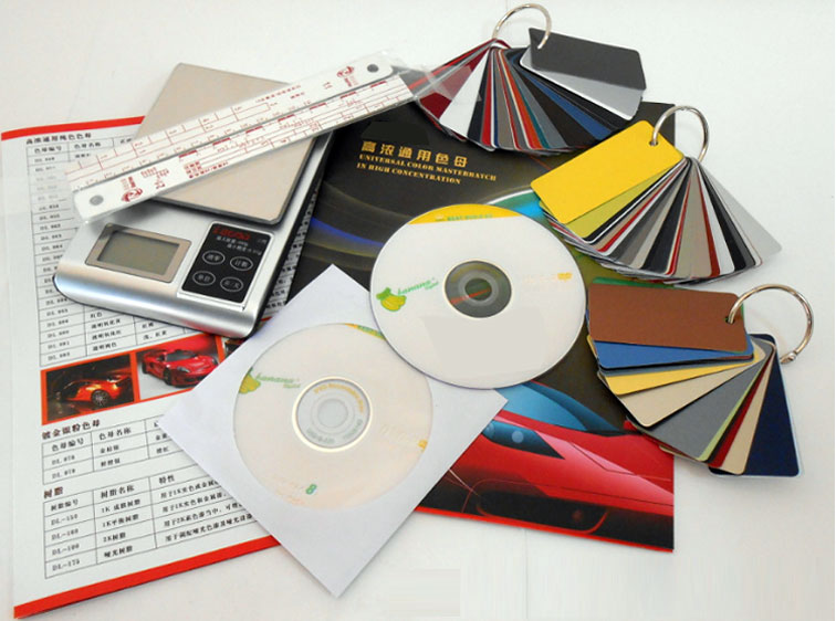 汽车调漆系统光盘、色卡、电子称