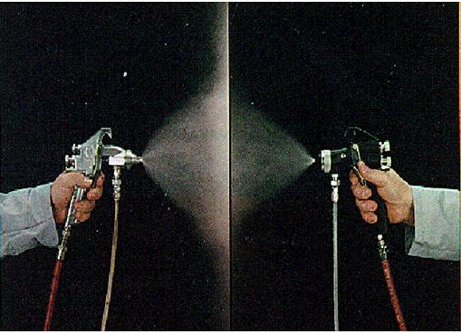 HVLP喷涂和普通空气喷涂原理对比