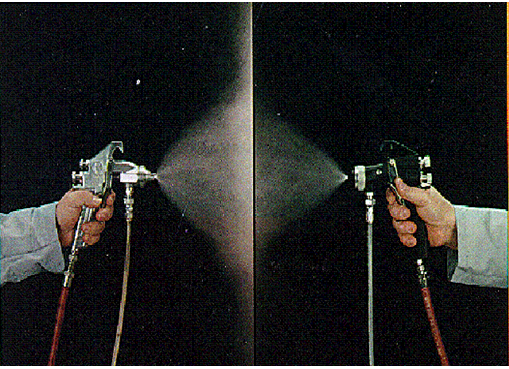 HVLP噴涂和普通空氣噴涂原理對比