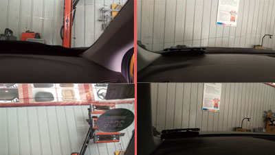 汽车风挡玻璃裂纹修复效果