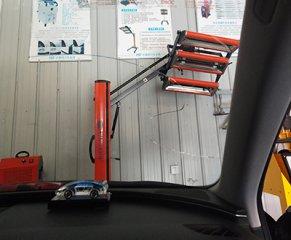 【汽车车玻璃崩了一道裂纹修复】专用处理器快速复原